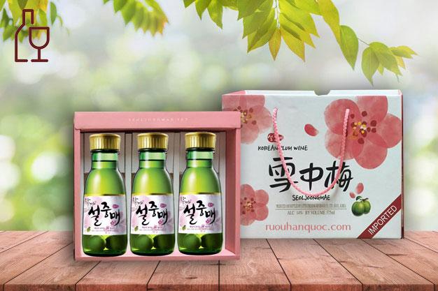 Qua Tang Ruou Mo Xanh