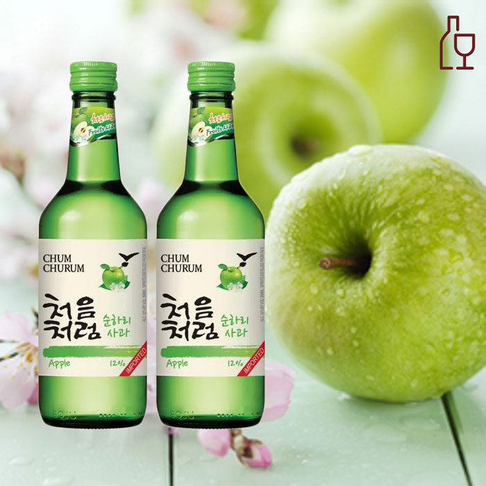 Rượu Soju Hương Táo Chum Churum Apple