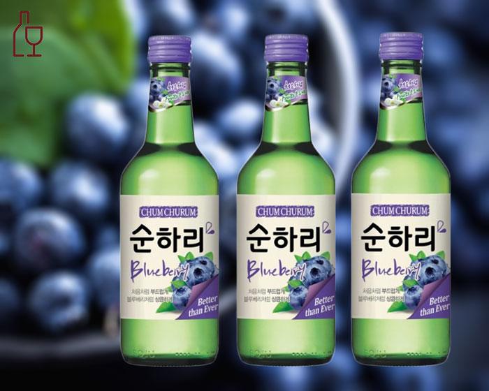 Rượu Soju Hương Việt Quốc Chum Churum Blueberry