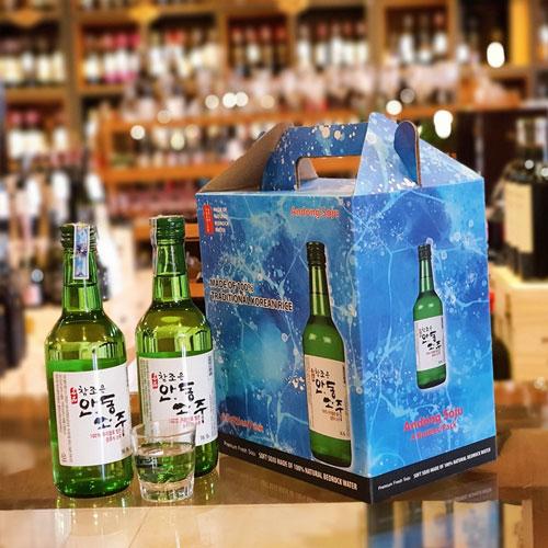 Set 6 chai Andong soju cao cấp vị truyền thống