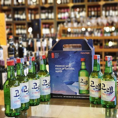 Set 6 chai Core Soju truyền thống